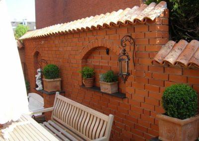 Gartenmauer mit Mönch Nonne – Vieja Castilla